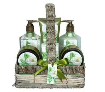 Top selling bath gift stes with different furit or flower scent with shower gel