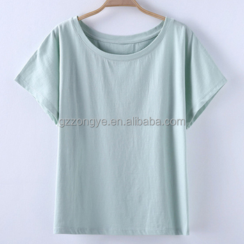 Fashion design plain casual women's shirts cotton t shirts