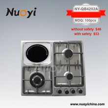 Nuoyi Gas stove, electric gas stove, combi cooker with 4 Burner