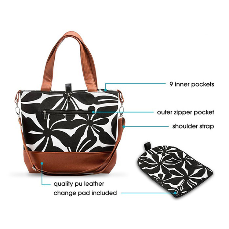 chinese supplier leather diaper mother bag baby bags