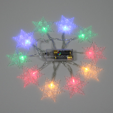 Battery Powered 20 Led Bulbs Snowflake Fairy String Light for Christmas Party Home Garden Wedding Home Bar Decoration