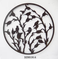 Tree And Flower Metal Wall Art Decoration