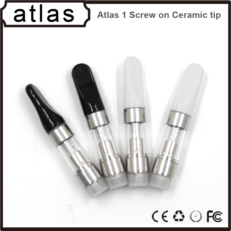 0.5ml metal/plactis/ceramic/wood tip cbd oil atomizer 510 thread vape pen cartridge vaporizer cartridges