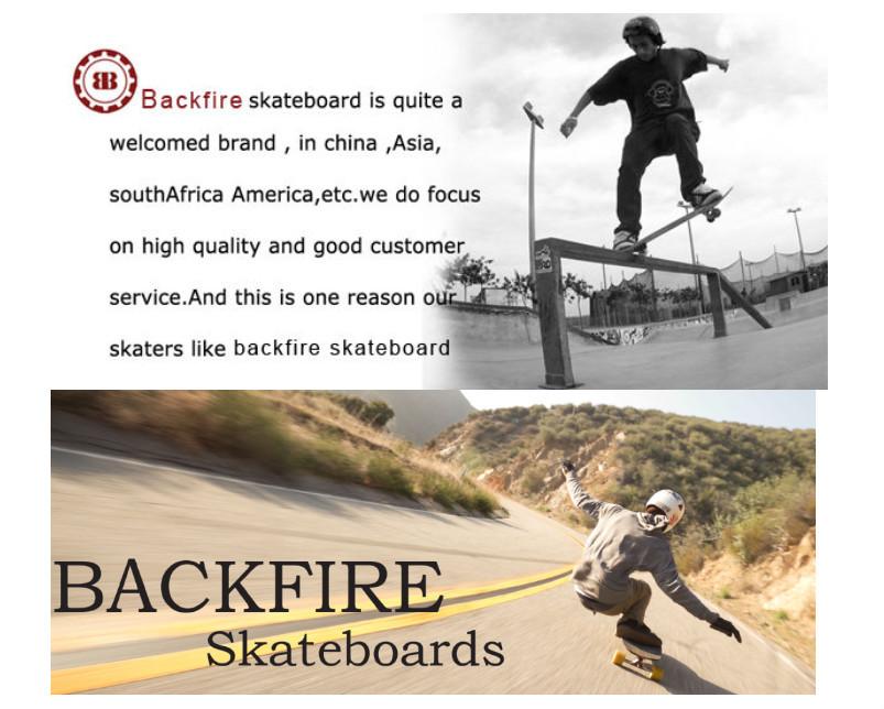 Fábrica de atacado impulsionado placa preço backfire skate elétrico para venda