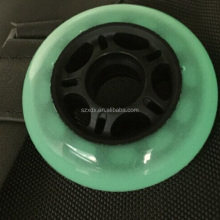 hot sale customized polyurethane wheel five-star inner core 76*24-48mm skates wheel flashing wheel