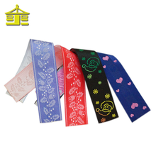 Decorative gift 50mm color wholesale satin polyester custom printed silk ribbon