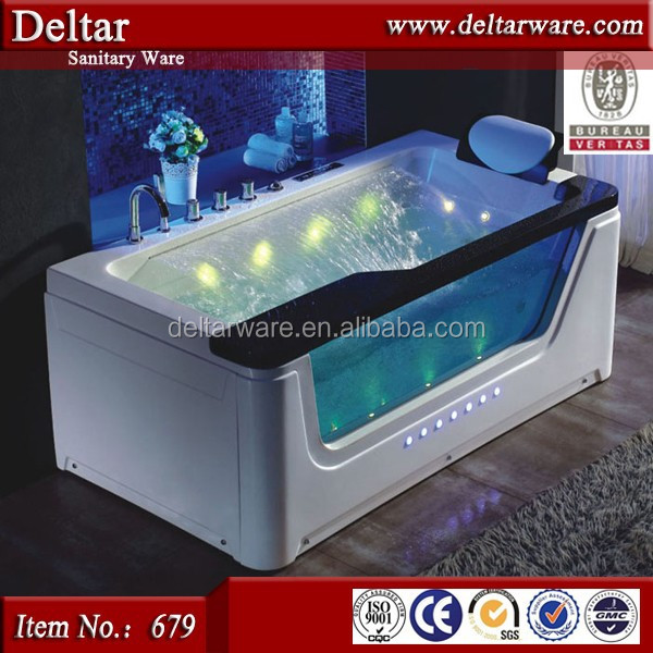 dubai hotel project bathtub, factory luxury sex outdoor spa tub and outdoor bathtub with LED light