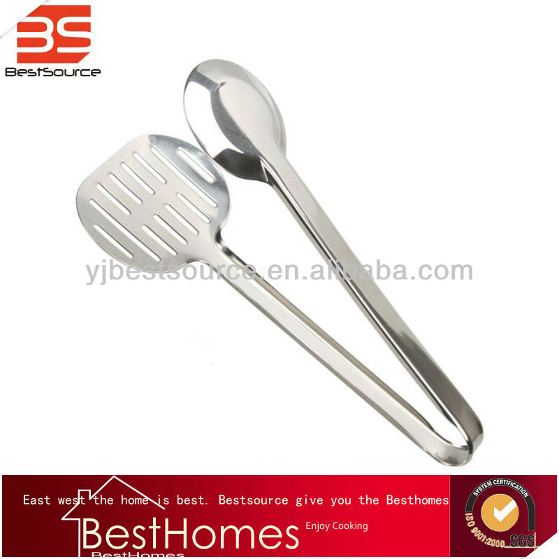 Stainless Steel Bread Food Meat Tong Fish Clamp Spatula Kitchen Tools
