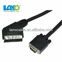 Hot Selling factory price scart to vga 15 pin vga converter cable