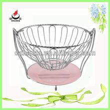 Round beautiful high quality stainless steel fruit basket, candy basket
