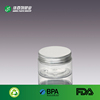 Ningbo Factory price 30ml Clear Cosmetic Plastic Jars with aluminium Lids