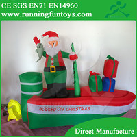 Hot sale!! Inflatable Christmas decoration/large outdoor Christmas ball ornament ICL0125