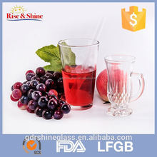 2017 hot-sale transparent glass drinking cup for juice,water,milk