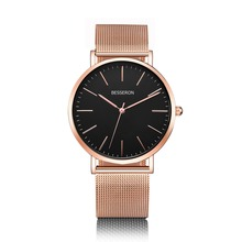 Adding your own watch brand fashion wristwatches 3ATM 316L Stainless Steel minimalist custom logo quartz men watches