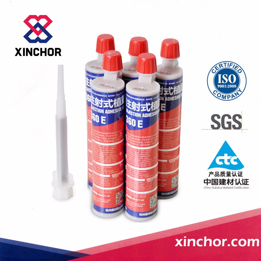 double component epoxy injection adhesive for concrete steel bar planting