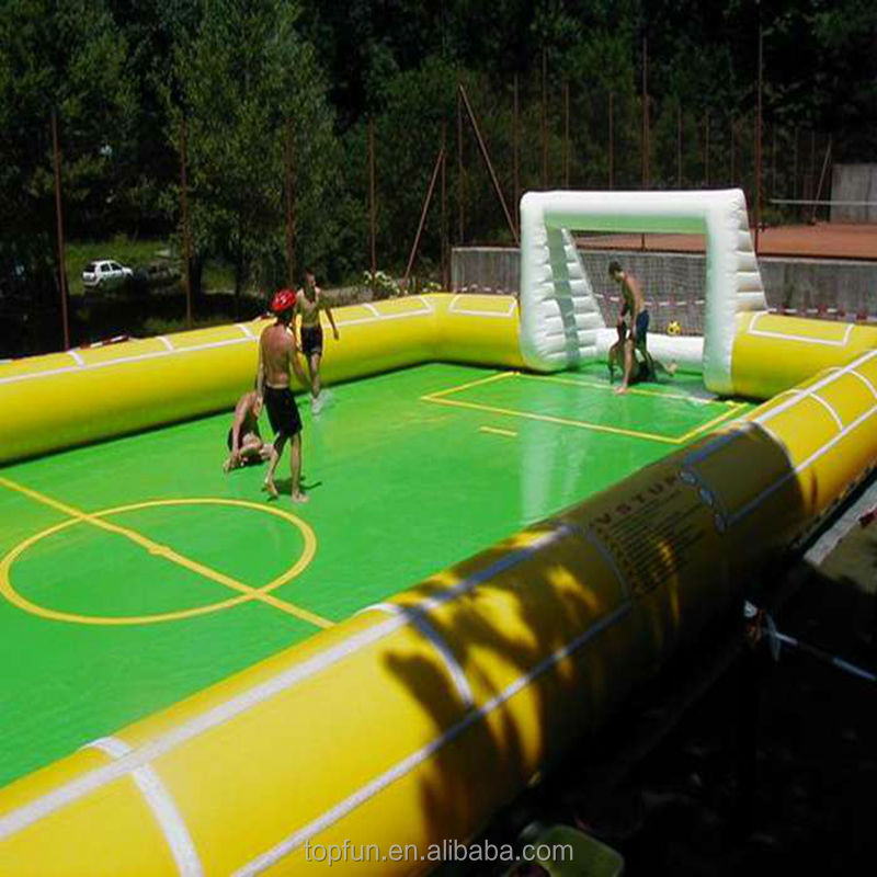 Inflatable soap football soccer filed,soapy playgrounds