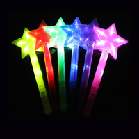 wholesale glow led flashing colorful star foam stick