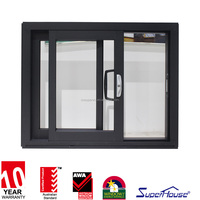 AS1288 standard powder coated aluminium sliding glass door for living room