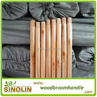 Good quality varnished wooden broom stick
