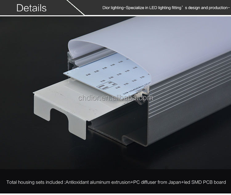 Crazy Selling amount in European and American Market 1500mm 60W IP65 LED Tri-Proof Light Tube fixture