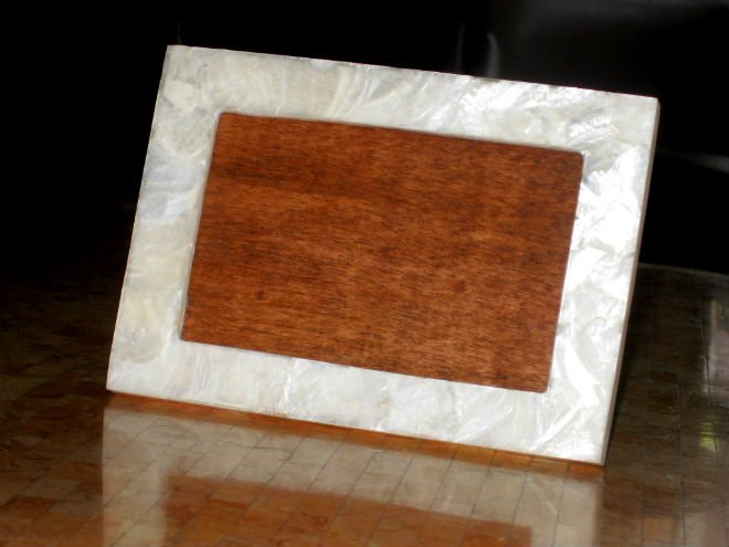 Capiz Shell Photo Frame