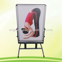Outdoor poster stand double or single sides for display aluminum snap frame