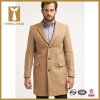 New design wool long overcoats for men made in China