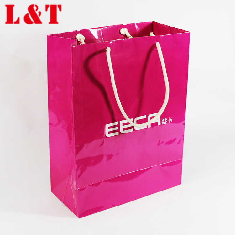 Guangzhou Custom Design Logo Print Pink Soap Paper Bag For Women Underwear