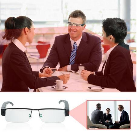 1280*720 HD Hidden Camera Video Glasses Eyewear DV Camcorder with Audio Recording Function