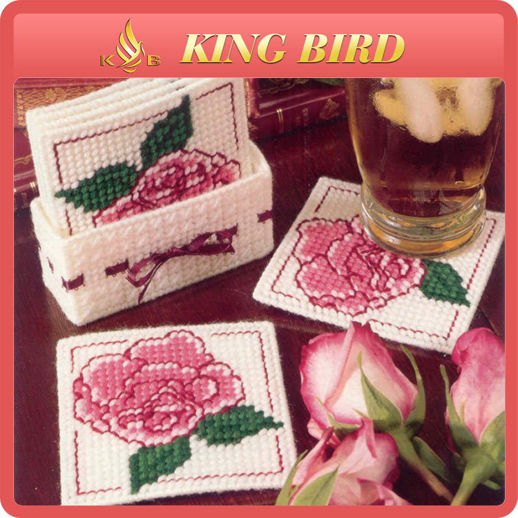 diy coaster embroidery chinese fabric cross stitch craft