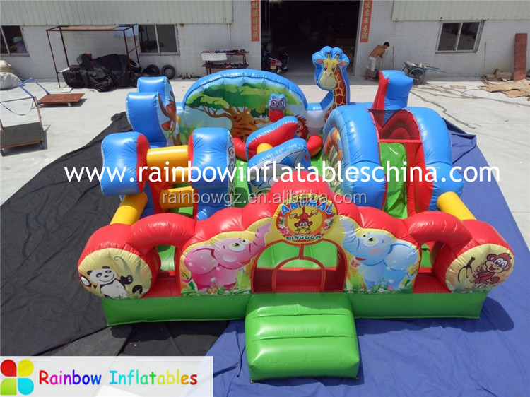 Cheap Inflatable Crazy Animal Zoo Funcity ,Used Party Jumpers Bouncer For Sale(RB4119)