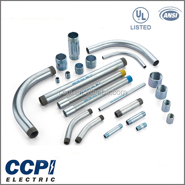 China Factory CCPI UL Standard Free Sample 10ft./3.05m Length Customized Rigid Galvanized Steel Pipe/ Bending Rigid Conduit