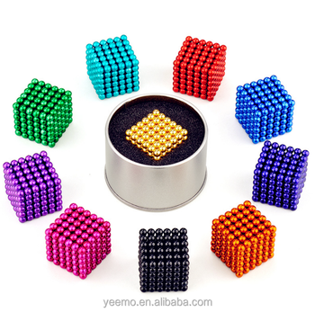 Novelty Popular Magic Colorful Cube Ball for Magnet Toy