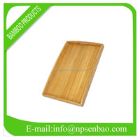 bamboo fast food serving tray with handles