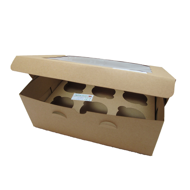 New Products Custom Logo Paper Cup Cake Box With Window