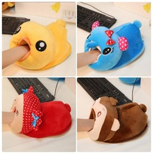 N173 New plush USB heating warm hand mouse pad
