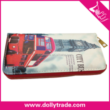 Bus Single Zipper Wallet Purse Hand Bags for Woman
