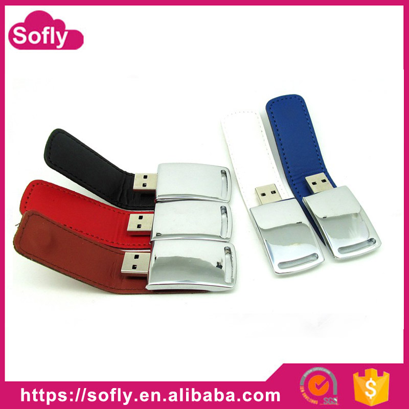 High Speed USB 3.0 Leather usb flash drive + Key chain USB Flash Drives 128GB 64GB 8G 16G 32GB Pen Drives gift