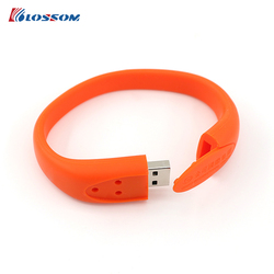 Cool customized logo cheap silicone Bracelet USB Flash Drive