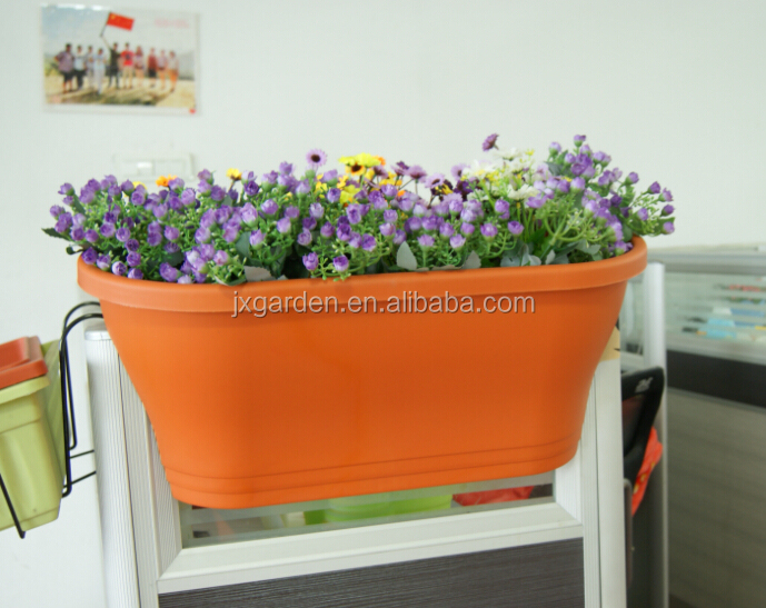 balcony plastic flower pot for outdoor