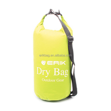 15L 500D PVC Tarpaulin Roll-top Dry Tube Bag,Dry Bag With Customized Color Attractive Shoulder Strap Quick Release Buckles