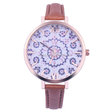 2016 new arrived korean style floral watch women