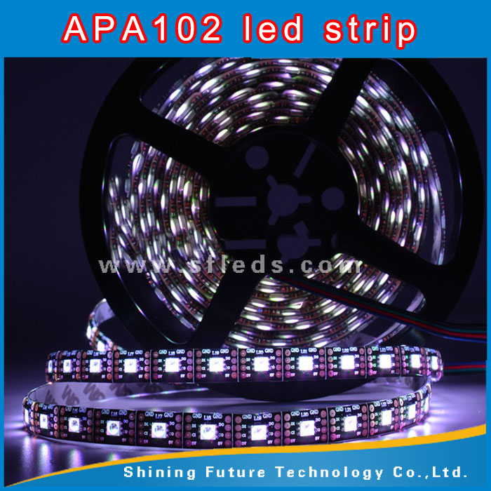Popular highlight pixel led strip silicon tube smd rgb led programmable APA102 Led Pixel Strip