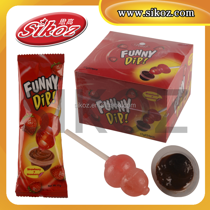 SK-B054 Dip lollipop with chocolate jam