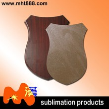 Sublimation blanks wooden medal L35-22 sublimation medal with golden pearlized plate