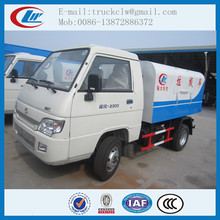 Factory selling FOTON Sealed Hooklift Garbage Truck 2 ton to 5 ton Mini Dump Garbage truck 4x2with lowest price for sale
