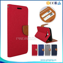 PU Leather flip with card slots case for Cherry Mobile flare xl plus , wallet leather case for Cherry Mobile flare xl plus