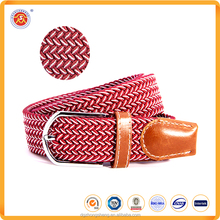Hot Sale Polyester Material Western Braided Fashion Elastic Woven Belts