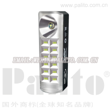new good price palito flashlight 12+1 pcs smd rechargeable portable emergency light hand-held emergency light