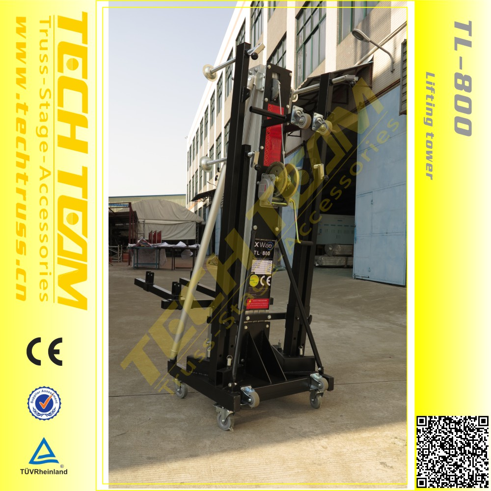 Maxi Loadin 300kg ,Adjustable height 2.05-8m Aluminum Truss Lifting Tower High Quality